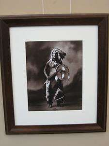 American Indian, Framed & Matted Photograph by Rinehart, Circa 1898
