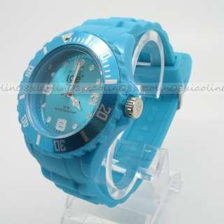 FASHION Unisex Jelly Candy Dial Quartz Wrist Watch bangle 13 colors