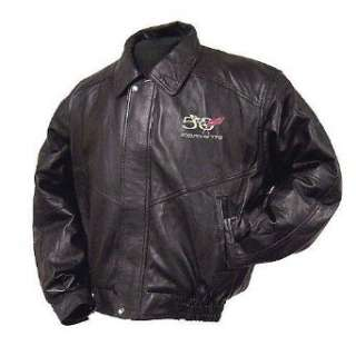 com Corvette 50th Anniversary Emblem Lambskin Bomber Jacket Clothing