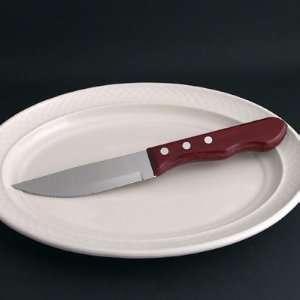 13/16 Big Red Jumbo Steak Knife   Stainless Steel Blade   3 Rivet