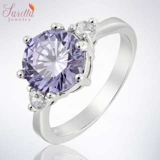 20% OFF Lady Fashion Jewelry PURPLE TANZANITE WHITE GOLD GP COCKTAIL