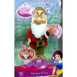 Disney Snow White   Whistling Grumpy Dwarf Boxed Doll Toy