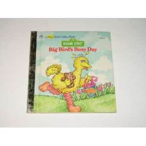 Golden Book Sesame Street Big Birds Busy Day Jessie Smith Books