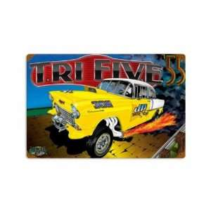 Rod Drag Race Vintage Metal Sign 12 X 18 Not Tin