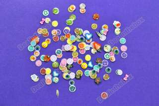 12 Wheel Mixed Nail Art DIY 3D Mix FIMO Tip Polymer Clay Slices