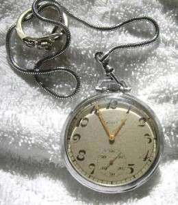 ANTIQUE ELGIN POCKET WATCH O/F M/D DMK 12s CHAIN