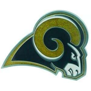 ST. LOUIS RAMS LARGE NFL TRUCK TRAILER HITCH COVER  Sports