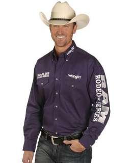 WRANGLER Mens DODGE RAM RODEO LOGO Shirt   XL   LTD ED   Purple