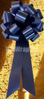 10 NAVY BLUE PULL BOWS RIBBON WEDDING PEW GIFT SHOWER