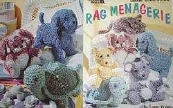 rug fabric animals crochet patterns dog cat bear bunny mouse