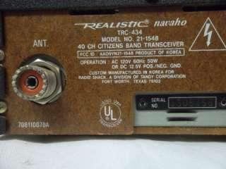 CB Radio Realistic Navaho TRC 434 Base Station Mobil TRC434 w/ Mic NR