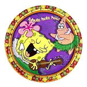 Spongebob Squarepants Luau Birthday Party Dessert Plates: Toys & Games