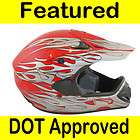 Adult MOTOCROSS DIRT BIKE ATV Motorcycle Helmet DOT Red Size M Medium