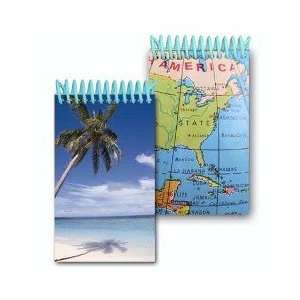 Images of Palm Tree on a beach and North America Map