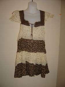 Rave hippie flower vintage style hippie blouse med new