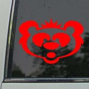 Panda Bear Big Head Red Decal Car Truck Window Red Sticker