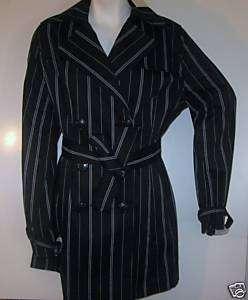 NWT VERTIGO PARIS belted trench DRESS JACKET COAT MED