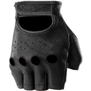 Z1R Ravage Mens Leather Cruiser Motorcycle Gloves   Black