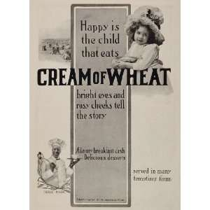 1903 Ad Cream of Wheat Rastus Girl Black Americana   Original Print Ad