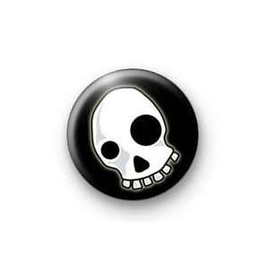 EMO SCARY SKULL Pinback Button 1.25 Pin / Badge