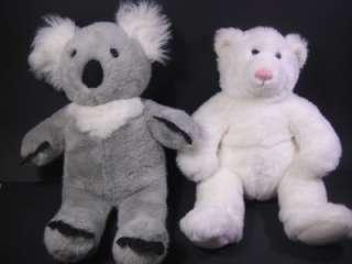 BUILD A BEARS LOT Koala Bear and Polar Bear with Sound