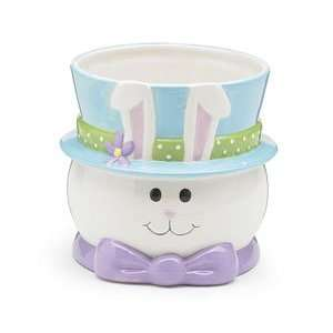 Easter Bunny Rabbit Planter or Candy Dish Adorable Party