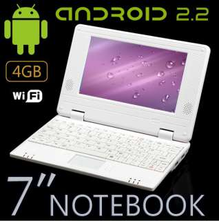 NEW 4GB 7 inch Android 2.2 Laptop Netbook Computer Harddisk 256MB RAM