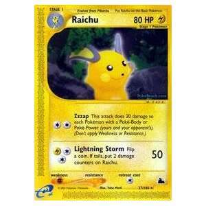 Pokemon   Raichu (27)   Skyridge   Reverse Holofoil: Toys