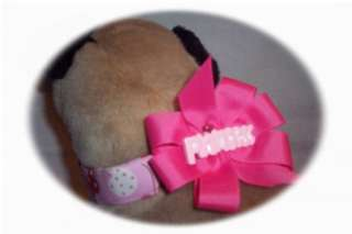 PRINCESS Dog Cat Puppy Collar + Deco Bow