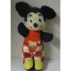 Vintage 1950s Disney Mickey Mouse Plush Doll