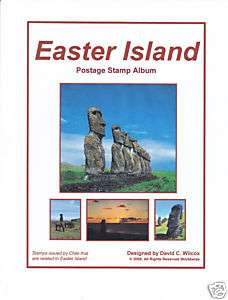 Easter Island Printed Album Pages 1940 2011   Color Stamp Images