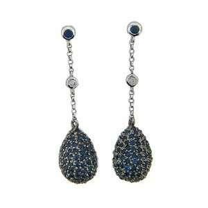 Mastini Dangling Blue Sapphire Earrings Mastini Fine