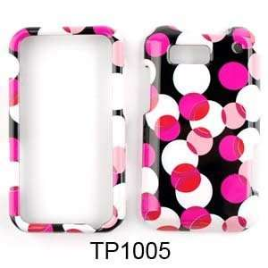 CELL PHONE CASE COVER FOR MOTOROLA DEFY MB525 PINK POLKA