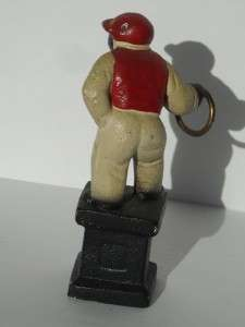MINIATURE CAST IRON LAWN JOCKEY   VINTAGE BLACK AMERICANA
