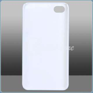 White Flower Hard Case Cover Protector for iPhone 4G
