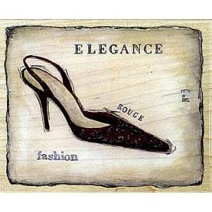 Elegant Rogue Wood Mounted Rubber Stamp Arts, Crafts
