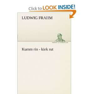 rin   kiek rut (German Edition) (9783842407329): Ludwig Frahm: Books