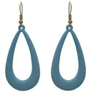 Nicia Gold Baby Blue Hook Earrings Jewelry