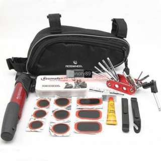 2012 Cycling Bicycle tools Bike repair kits with Pouch Pump Red