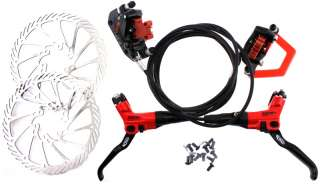 AVID ELIXER CR Pair Hydraulic Disc Brakeset Brake Set Red 160mm F + R