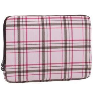 13 inch Pink Plaid Pattern Laptop Notebook Sleeve Slip Case Bag
