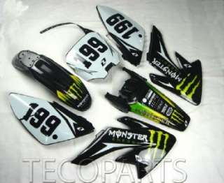 Full plastics MONSTER Decals Graphics Stickers for CRF 70 style pit