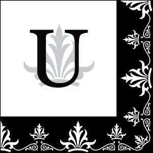 Cocktail Size Paper Napkin,Regalia Monogram U: Kitchen & Dining
