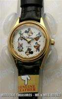 & Mickey Mouse & Friends Goofy Pluto Gold Tone Watch New #B