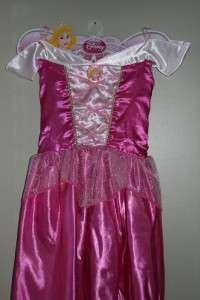 NEW DISNEY SLEEPING BEAUTY AURORA PRINCESS COSTUME DRESS UP SIZE 4 5 6