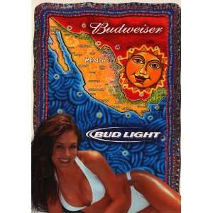 Budweiser Girl   College Poster  19 x 27: Home & Kitchen