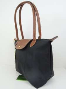 Longchamp Le Pliage Nylon Tote Bag BLACK New Small Basic retail 125