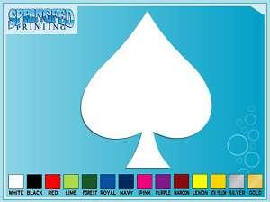 SPADE Symbol Playing Card vinyl decal Poker sticker #1