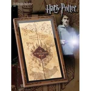 Harry Potter Marauders Map Replica With Wooden Display Cae