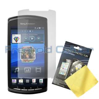 LCD Screen Protector Film Guard + Car Charger for Sony Ericsson Xperia